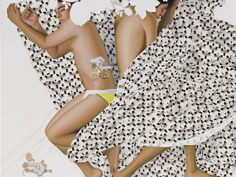"""Thukral and Tagra, I like my man covered II (detail), 2007, acrylic on canvas, 72 x 72"""""""