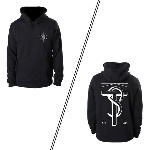 Hoodie (unisex, black, with backprint)