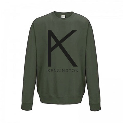 "Sweater ""K"" (unisex, moss green)"