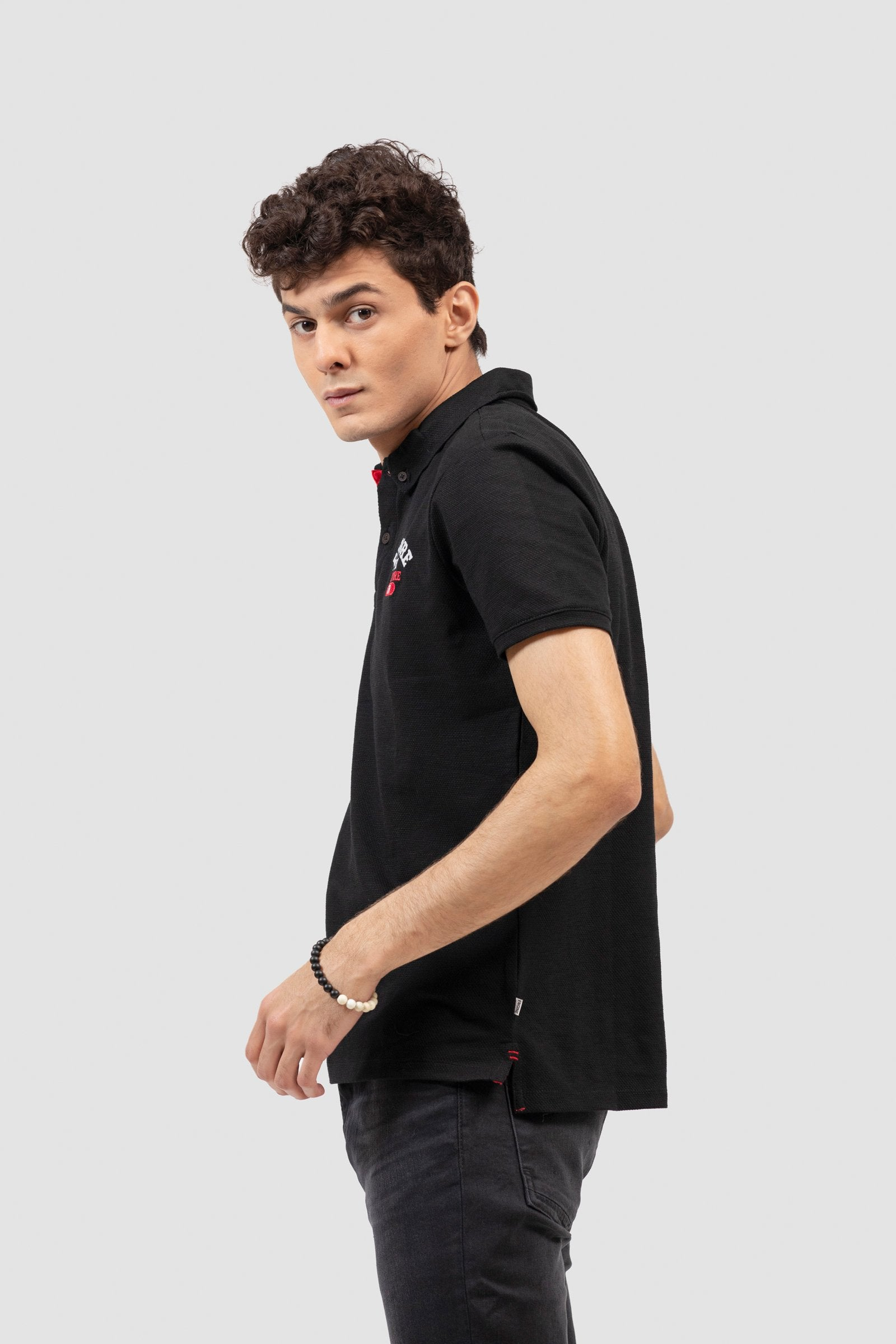 TRENDY BADGES FASHION POLO SHIRT