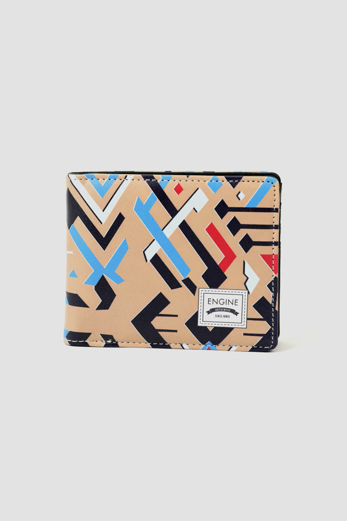 Men's bifold printed wallet