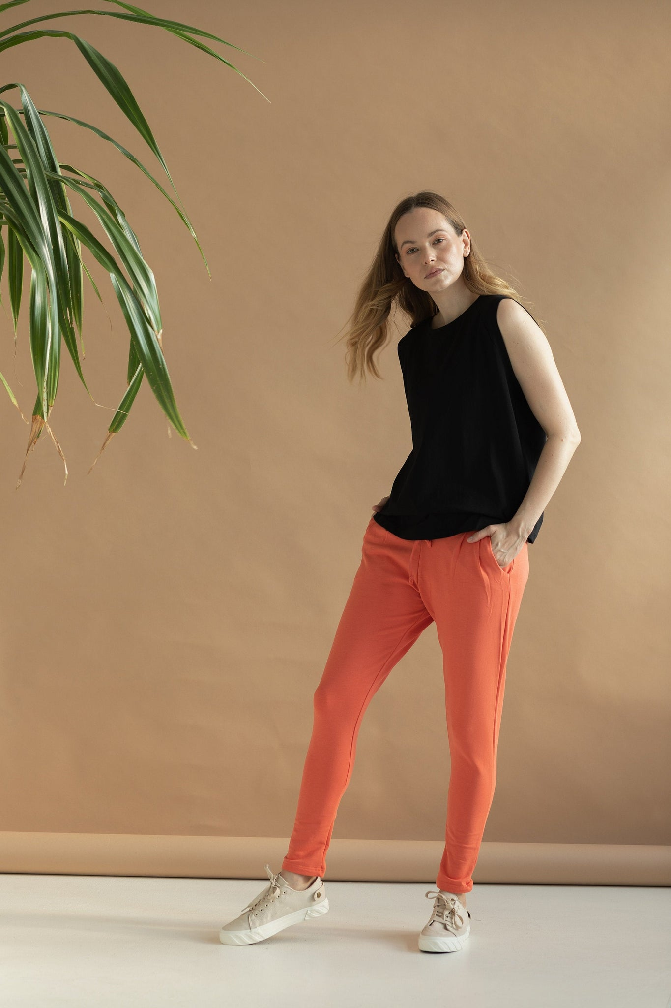 MEG || Organic Cotton & Cashmere Ginger Orange Sweatpants