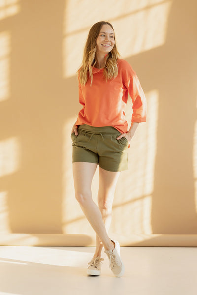 MAGGIE || Organic Cotton & Cashmere Ginger Shorts