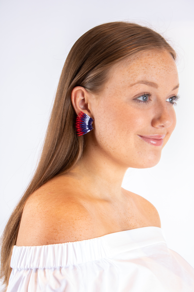 Mignonne Gavigan Mini Madeline Earrings Navy/Red