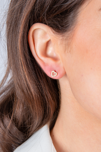 Details by CoatTails Pave Heart Ear