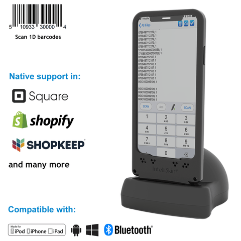 DuraSled™ DS800, Linear Barcode Scanning Sled - iPhone and iPod - Socket Mobile