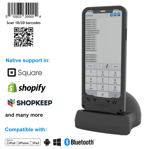 DuraSled™ DS860, Universal Barcode Scanning Sled and Passport, OCR, Travel ID, Dot Code Reader - iPhone and iPod - Socket Mobile
