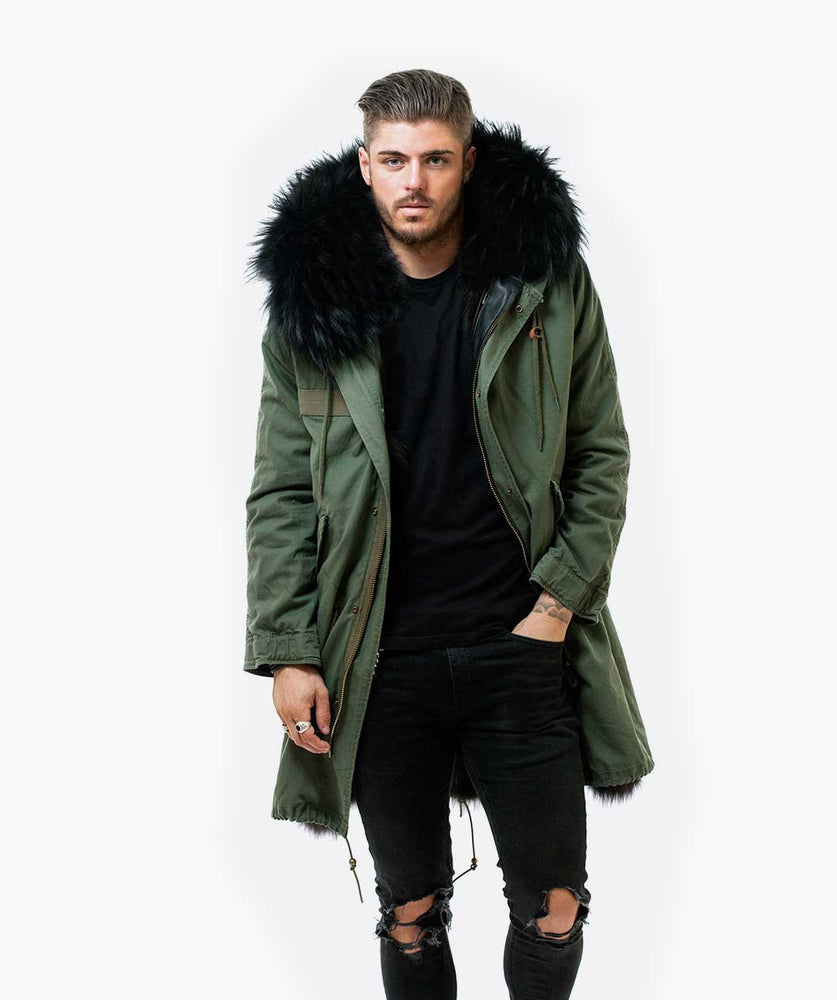 Fur in parka