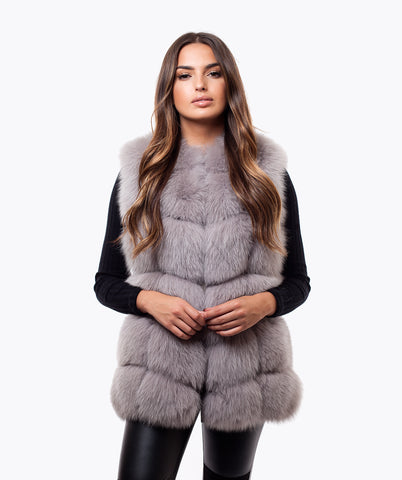 FOX GILET - LIGHT GREY