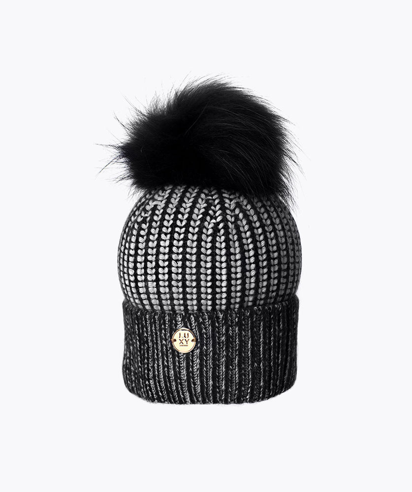 CONNOR POM POM HAT - BLACK