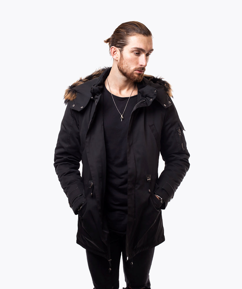 BLACK LUXY WATERPROOF PARKA - NATURAL