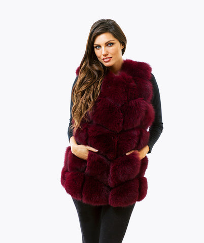 FOX GILET - BERRY