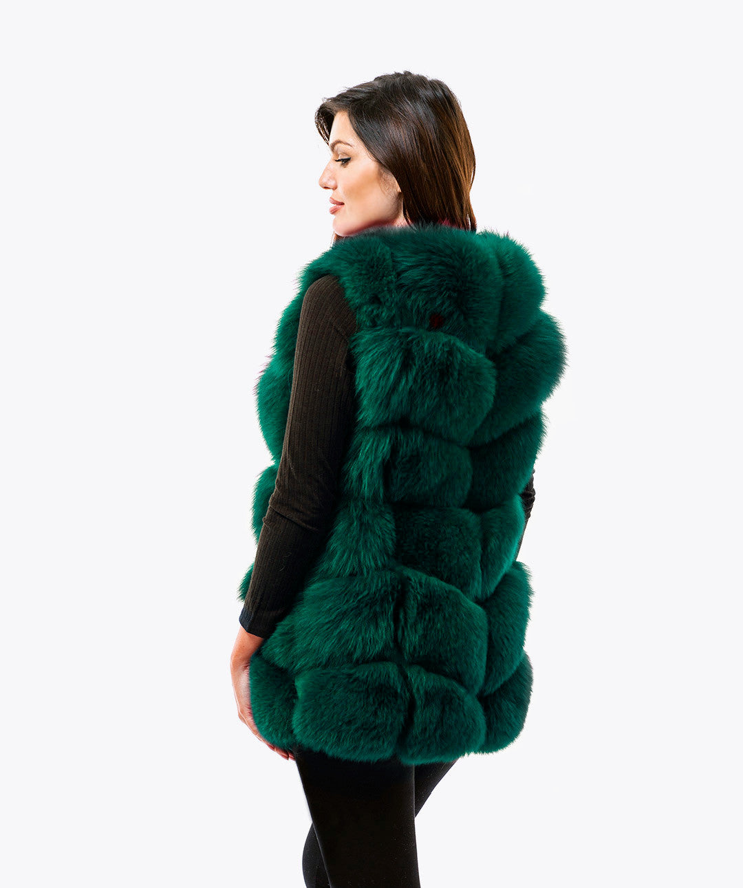 FOX GILET - EMERALD GREEN