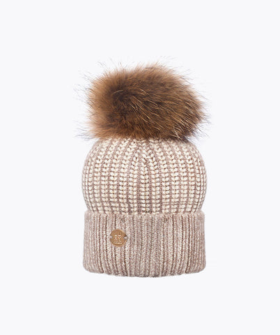 CONNOR POM POM HAT - OATMEAL