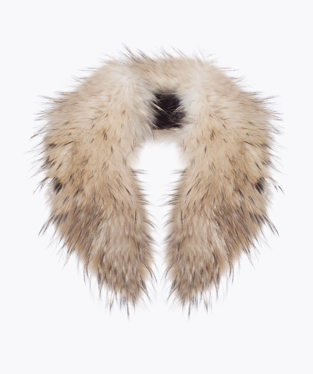 RACCOON FUR COLLAR - IVORY