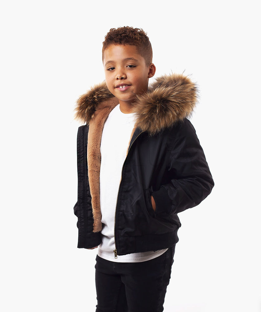 MINIS BLACK BOMBER - NATURAL