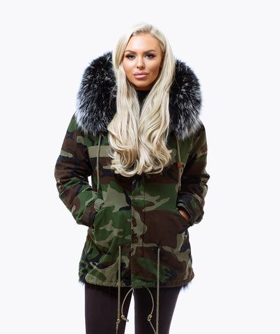 BLACK LUXY FUR PARKA - BLACKMIST