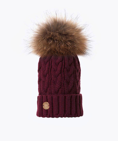 Bailey Pom Pom Hat - Berry