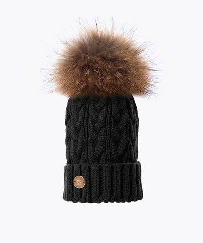 Bailey Pom Pom Hat - Black