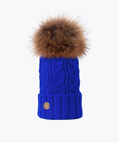 Bailey Pom Pom Hat - Cobalt Blue