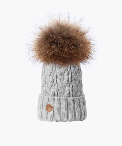 Bailey Pom Pom Hat - Light Grey