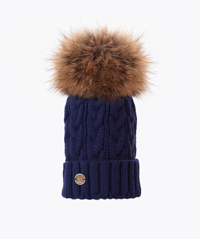 Bailey Pom Pom Hat - Navy