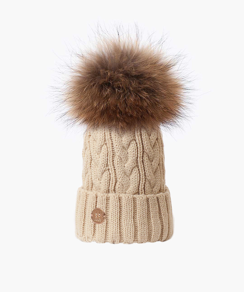 Bailey Pom Pom Hat - Oatmeal
