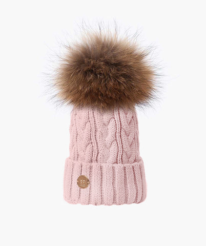 Bailey Pom Pom Hat - Light Pink