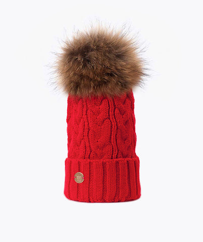 Bailey Pom Pom Hat - Red