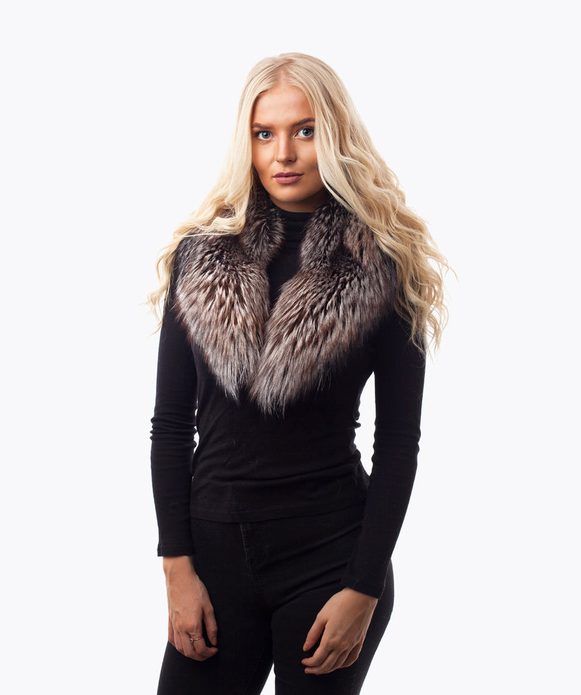 ARCTIC FOX FUR COLLAR - MOCHA