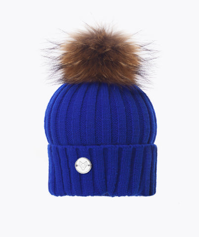 Copy of Classic Pom Pom Hat - Cobalt Blue
