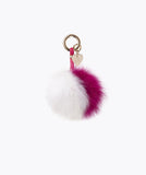 FOX FUR POM POM KEYRING - DOLLYMIX