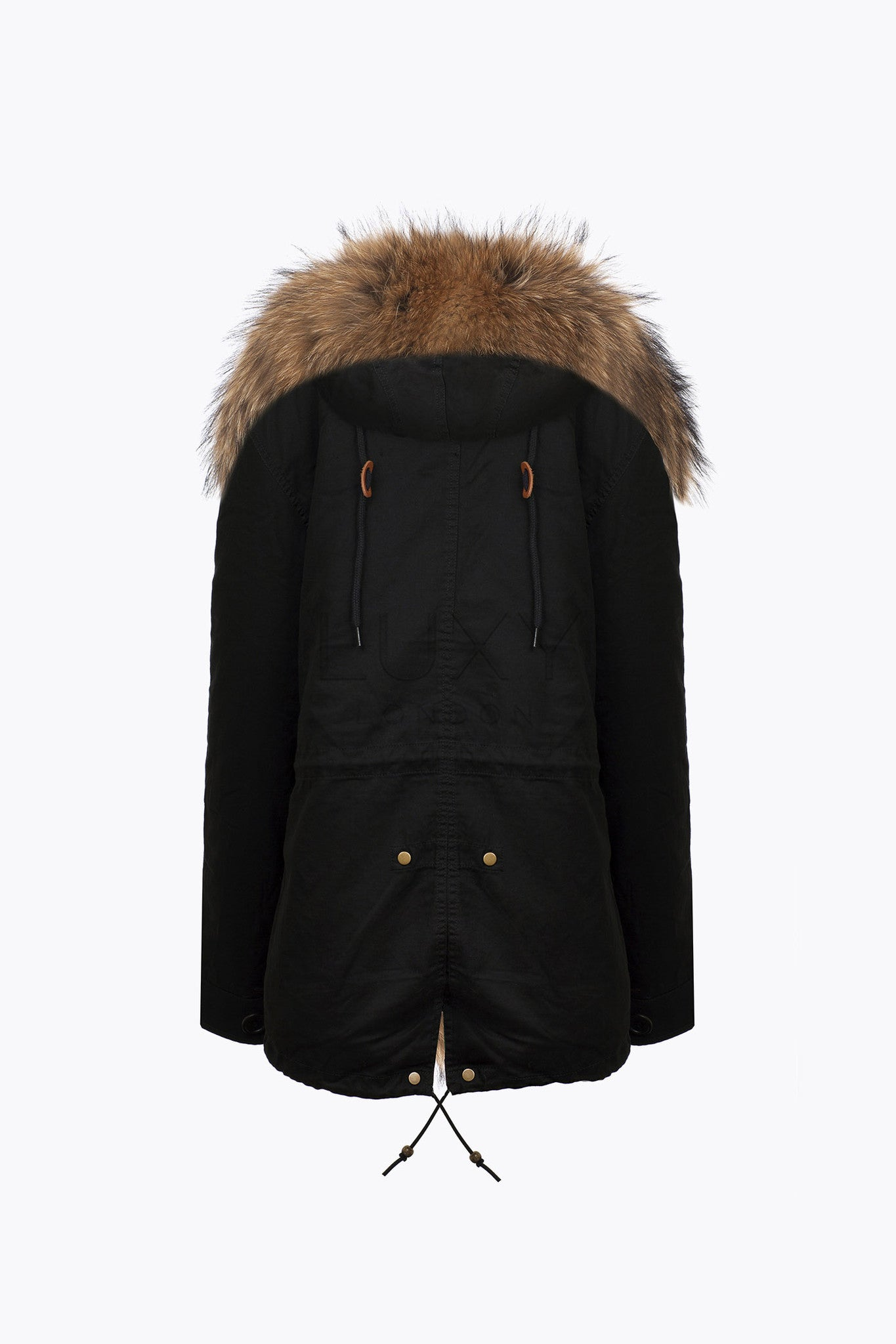 BLACK LUXY FUR PARKA - NATURAL