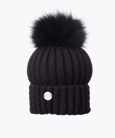 MENS BOSTON POM POM HAT - Black