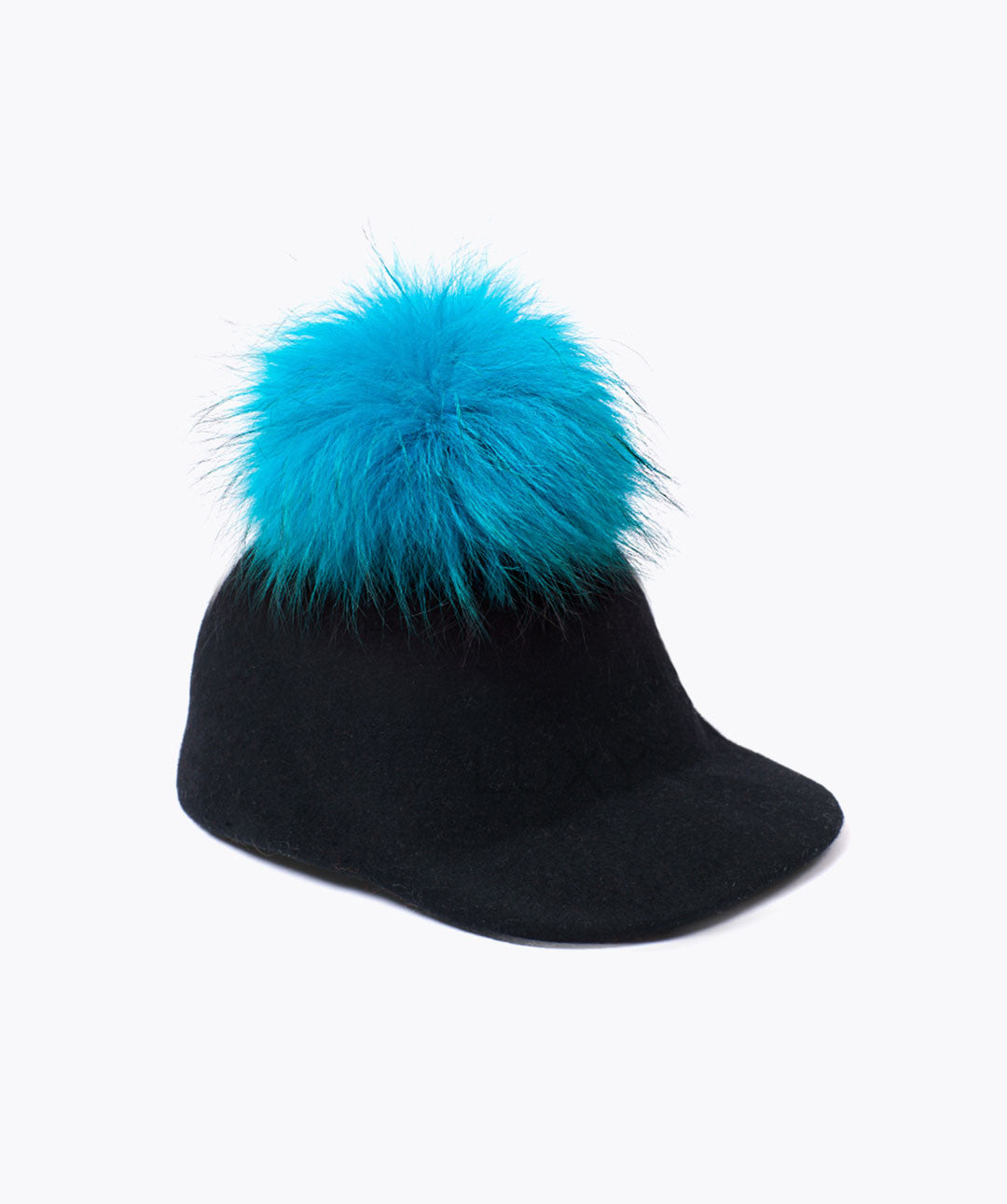 UBER FUR POM POM CAPS - BLACK