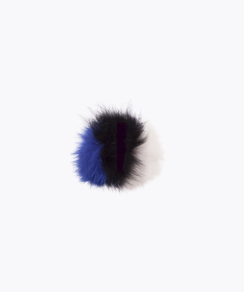 Additional Pom Pom - Blue , Black & White