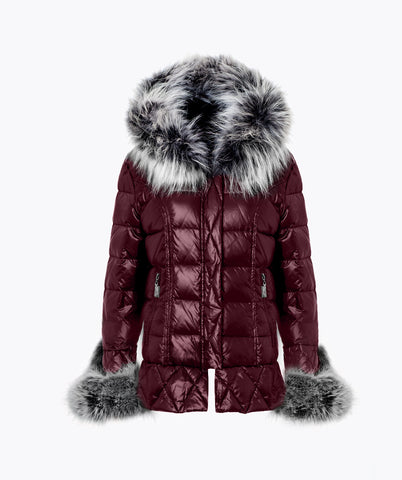 Bordeaux Quilted Down Jacket - Ice White