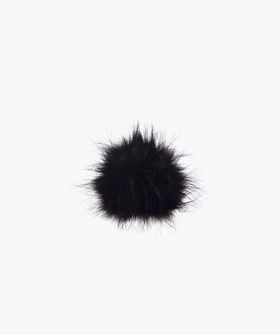 Additional Faux Pom Pom - Black
