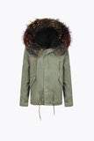 NAVY LUXY FUR PARKA - MULTI