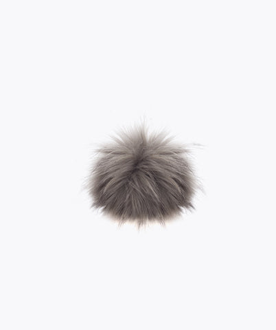 Additional Faux Pom Pom - Grey