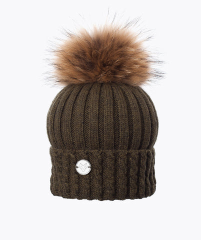 BOSTON POM POM HAT  - KHAKI