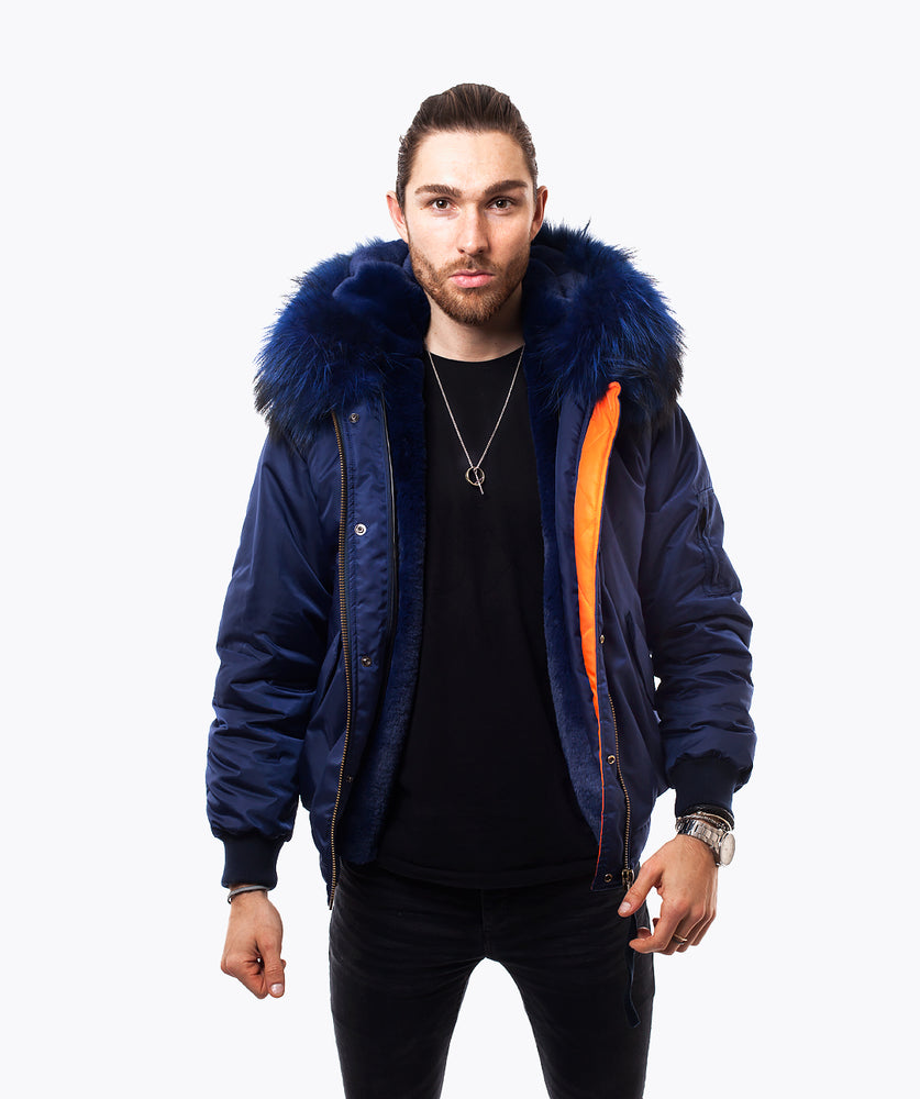 NAVY LUXY MENS BOMBER - NAVY