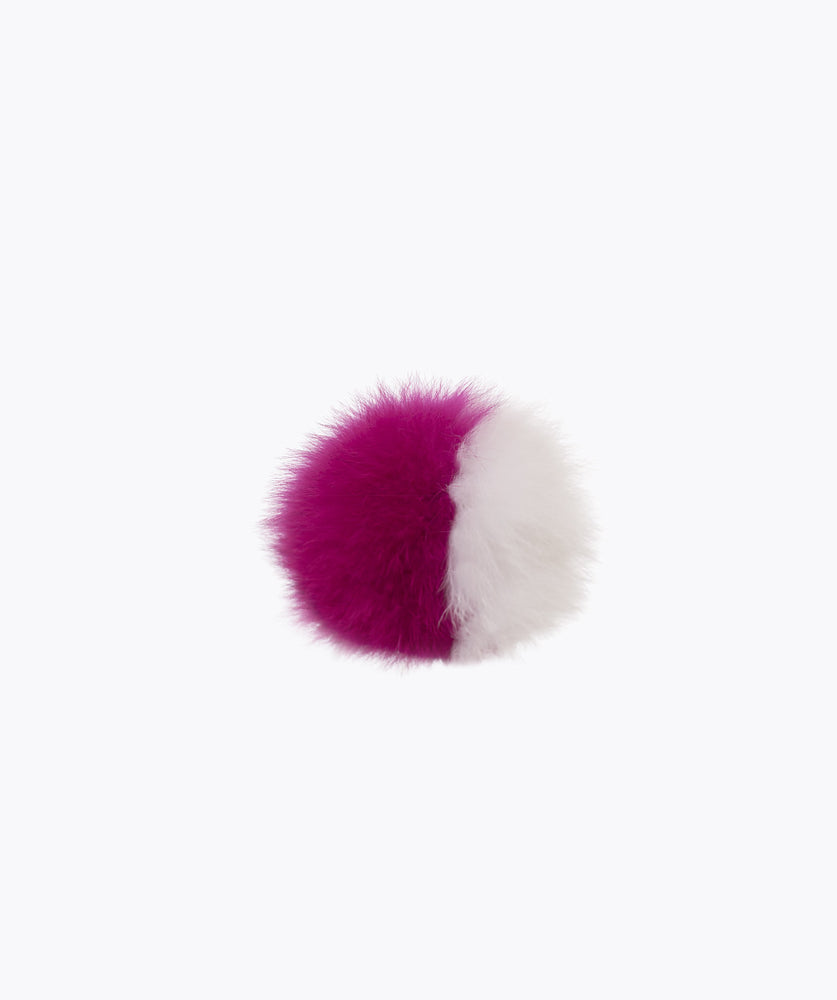 Additional Pom Pom - Fuchsia & White