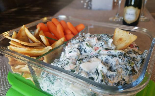Ring in the New Year with Spinach & Crab Dip!