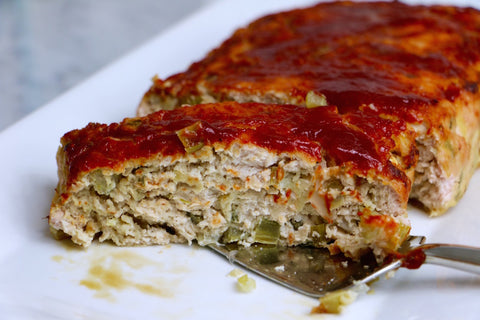Whitney English swaps ground turkey for ground beef in this Apple Sage Turkey Meatloaf recipe.
