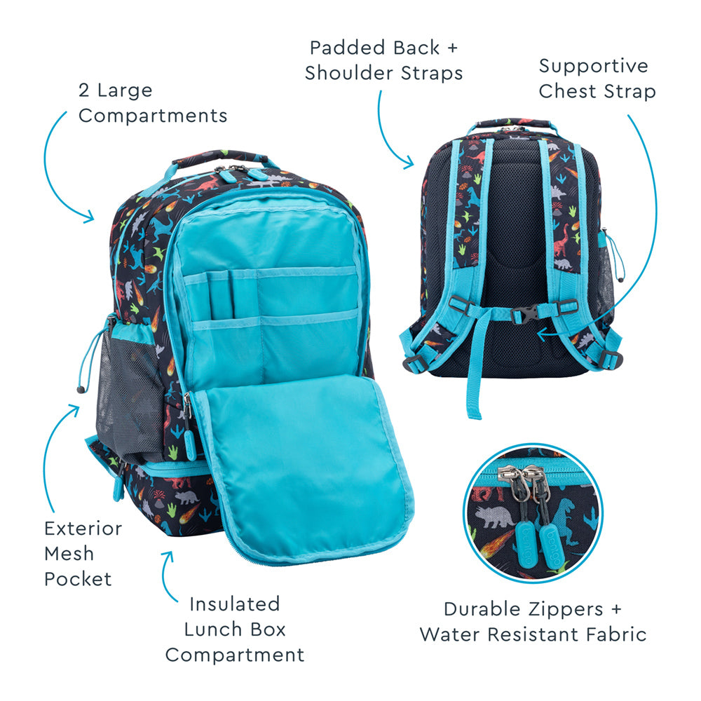Bentgo Kids Prints 2-in-1 Backpack & Lunch Bag