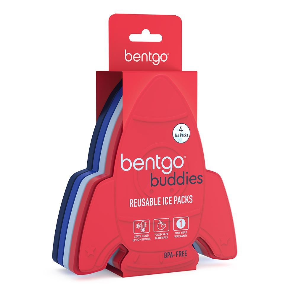 Bentgo Buddies Reusable Ice Packs - 4 Pack (Rocket)