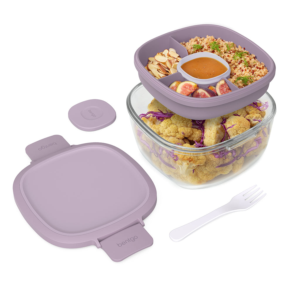 Bentgo Glass Leak-Proof Salad Container - Lavender