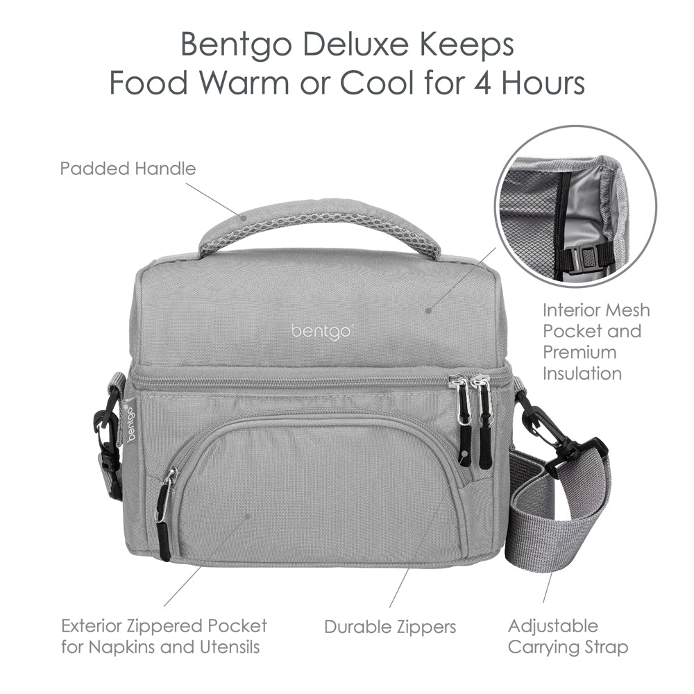 61f51766cd54 Deluxe Bentgo Lunch Bag – Insulated 2-Compartment Lunch Tote