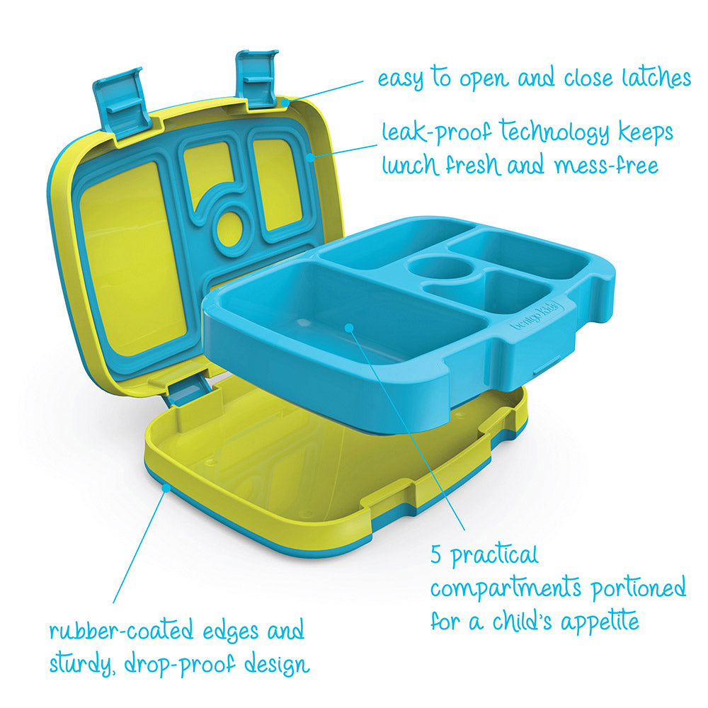 Bentgo Kids Brights - 5-Compartment Bento-Style Kids Lunch Box